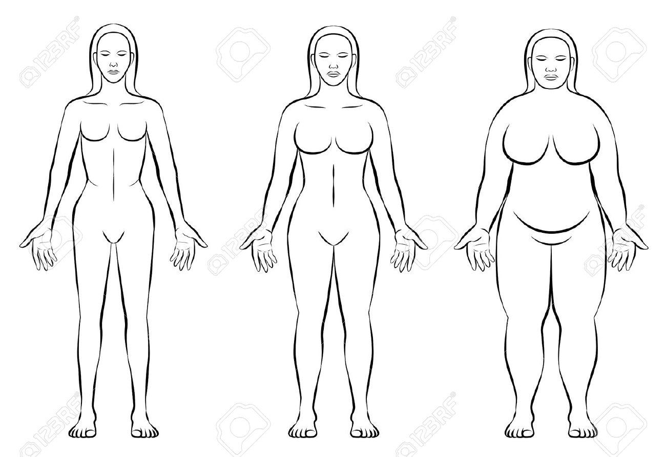 Tipos Constitución Del Cuerpo Femenino -, Peso Normal Y Delgada ...