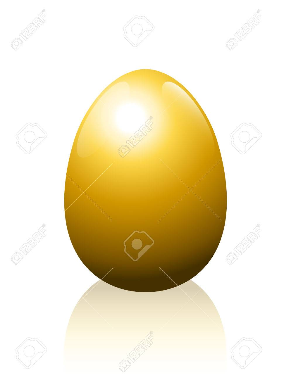 Golden Egg Symbol For Wealth Luxury Success Fortune Or Any