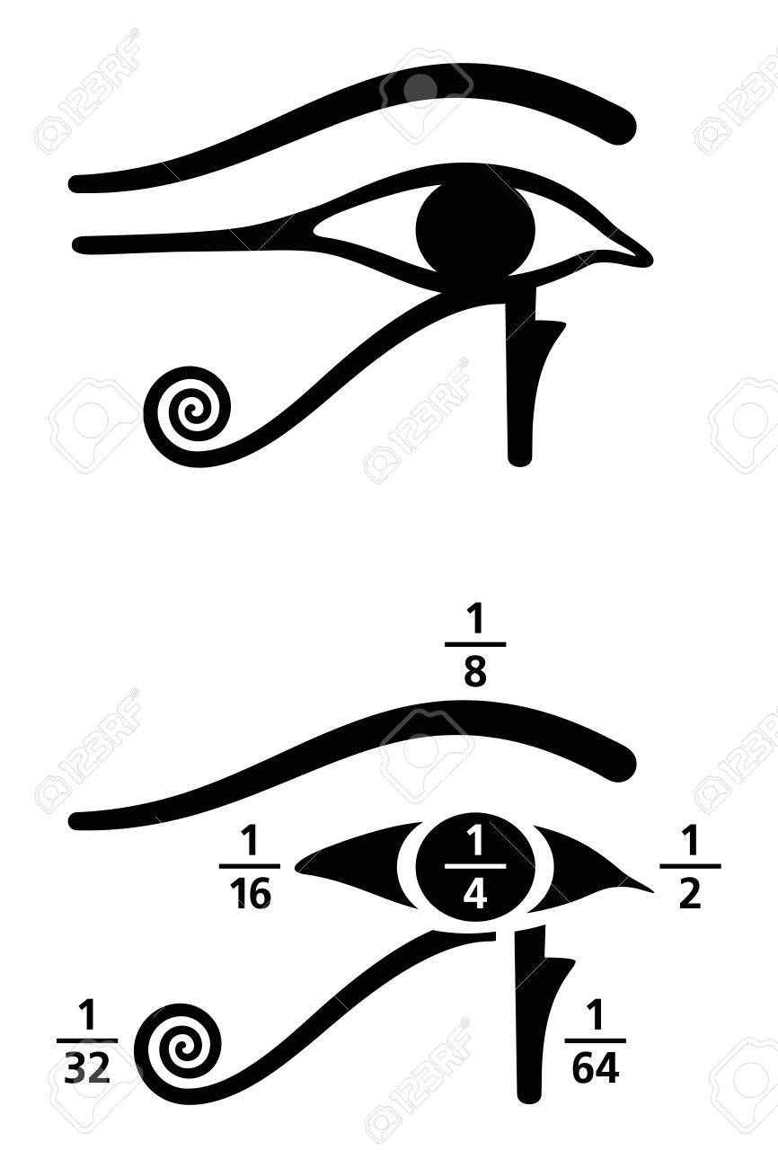 Eye of horus fractions values in ancient egyptian fractions eye of horus fractions values in ancient egyptian fractions were written as sum of biocorpaavc Images