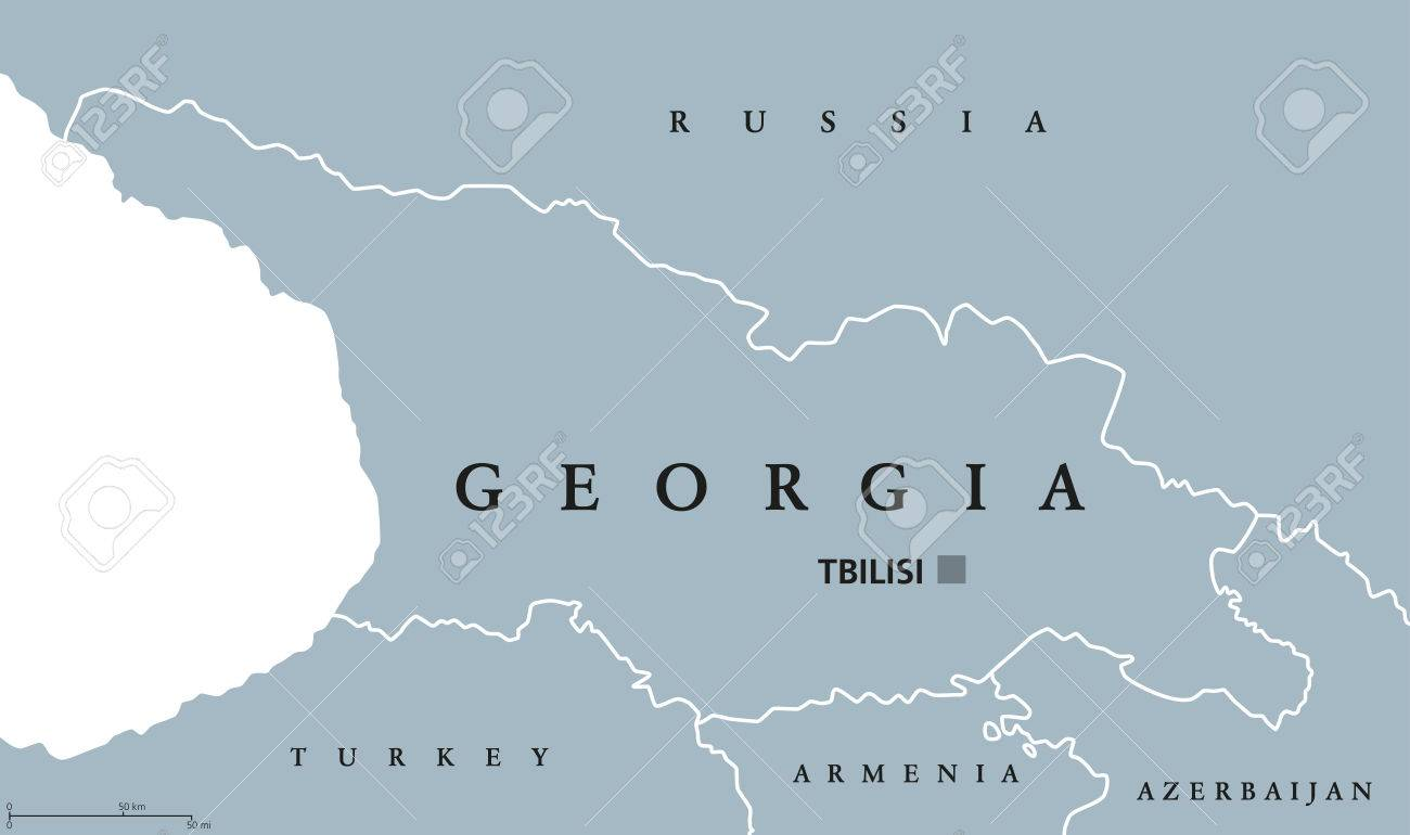 Map Republic Of Georgia.Georgia Political Map With Capital Tbilisi And International