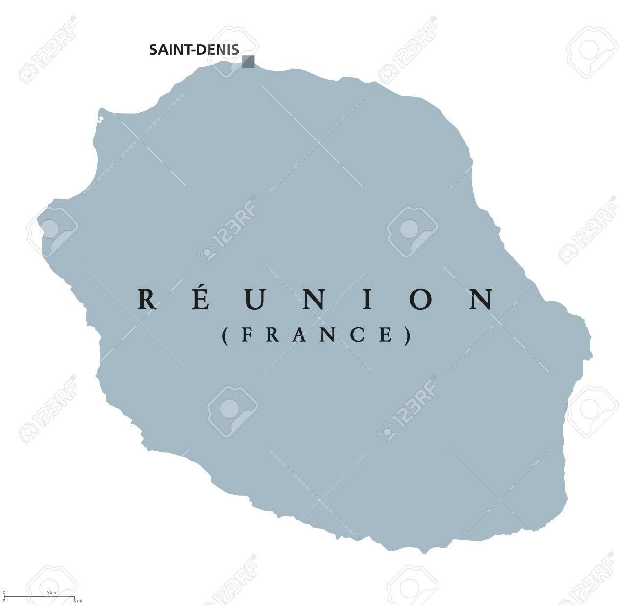 Saint Denis France Map.Reunion Political Map With Capital Saint Denis Island Overseas