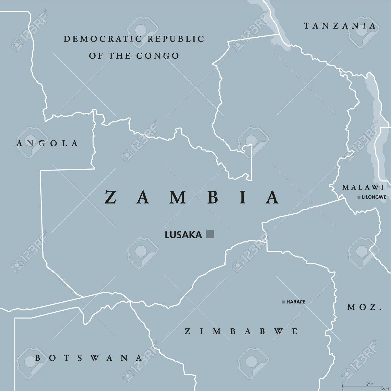Picture of: Zambia Political Map With Capital Lusaka International Borders Royalty Free Cliparts Vectors And Stock Illustration Image 82625739
