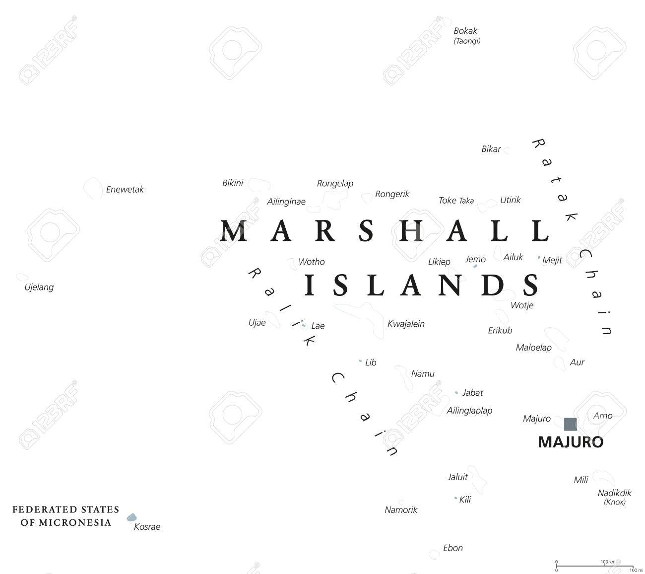 Marshall Islands political map with capital Majuro. Republic.. on rwanda map, hawaii map, philippines map, belize map, northern mariana islands, american samoa, burma map, wake island, gilbert islands map, macau map, micronesia map, dominican republic map, east timor map, palau map, federated states of micronesia, solomon islands, mariana island map, egypt map, australia map, new caledonia, pacific map, alaska map, puerto rico map, new caledonia map, cook islands, oceania map, caroline islands map, papua new guinea,