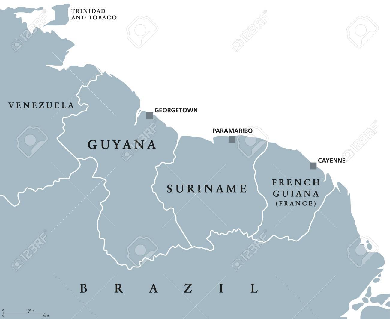 ガイアナ、スリナム、フランス領...