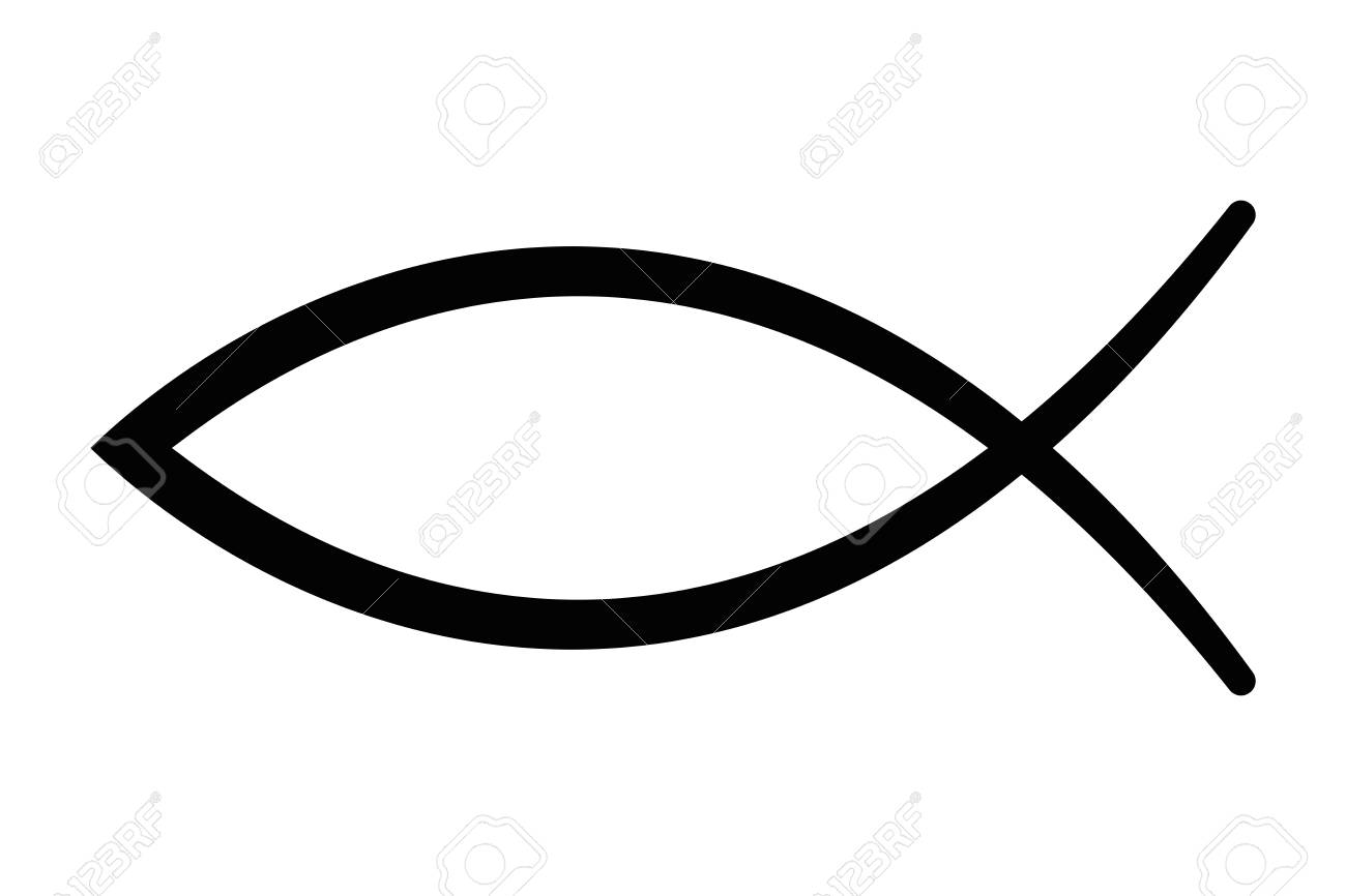 sign of the fish a symbol of christian art also known as jesus rh 123rf com christian fish symbol vector free