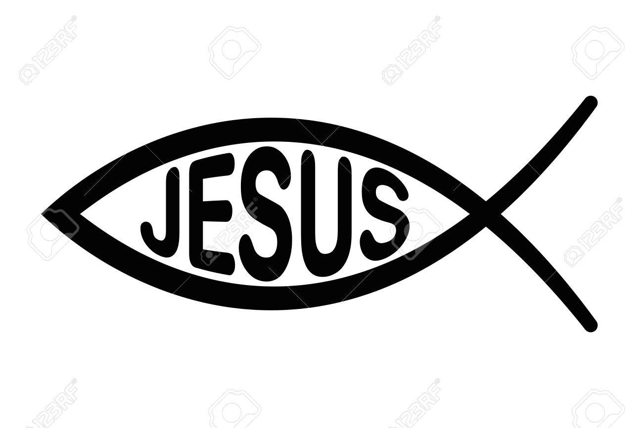 jesus fish symbol sign of the fish a symbol of christian art rh 123rf com