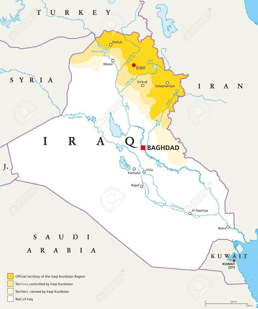 Iraqi Kurdistan Region political map. Official, controlled and.. on dead sea map, chechnya map, kashmir map, erbil map, kyrgyzstan map, baluchistan map, lebanon map, iraqi kurdistan, uzbekistan map, assyria map, kurdish population map, kurdish language, ukraine map, kurdish jews, turkish kurdistan, iraq map, afghanistan map, iranian kurdistan, halabja poison gas attack, kurdistan province, kurdish people, turkey map, kuwait map, baghdad map, kurdish flag, south ossetia map, palestine map, zagros mountains, persian people, iran map, scotland map,
