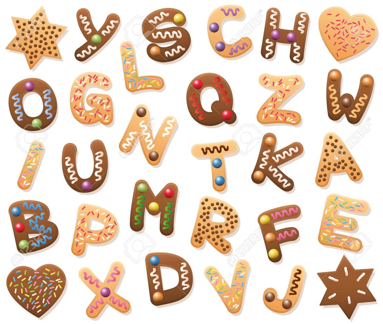 christmas cookies abc loosely arranged find all letters of the alphabet or bring