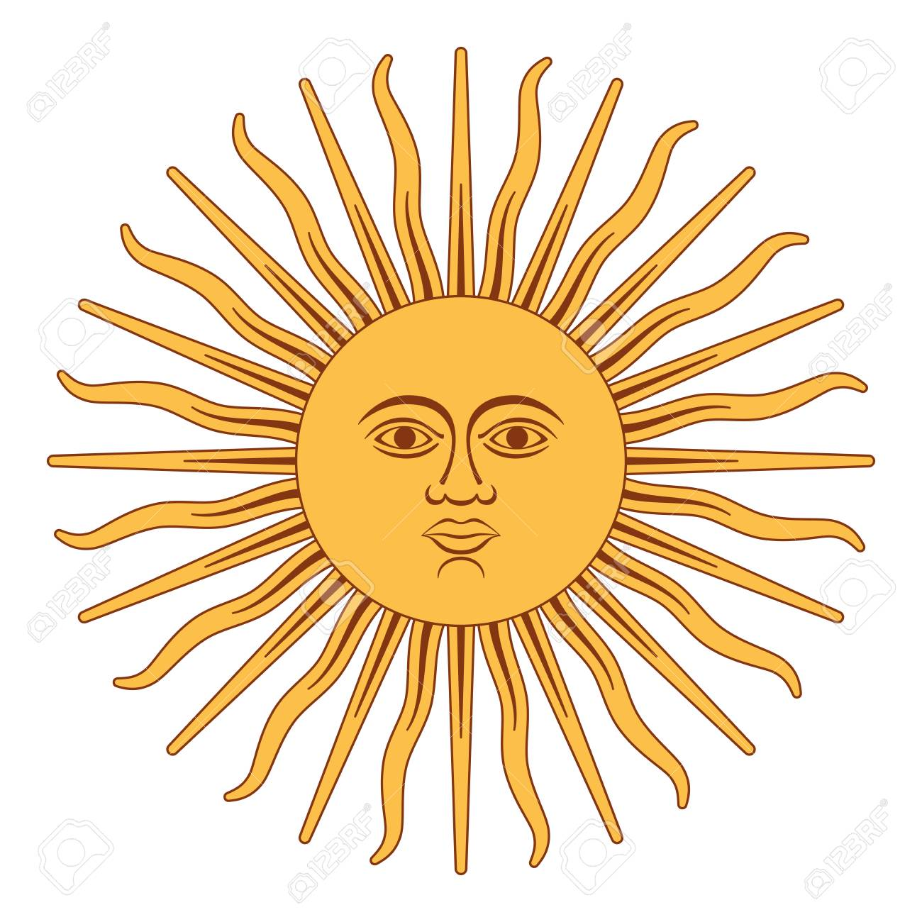 Sun of May, Spanish Sol de Mayo, a national emblem of Argentina