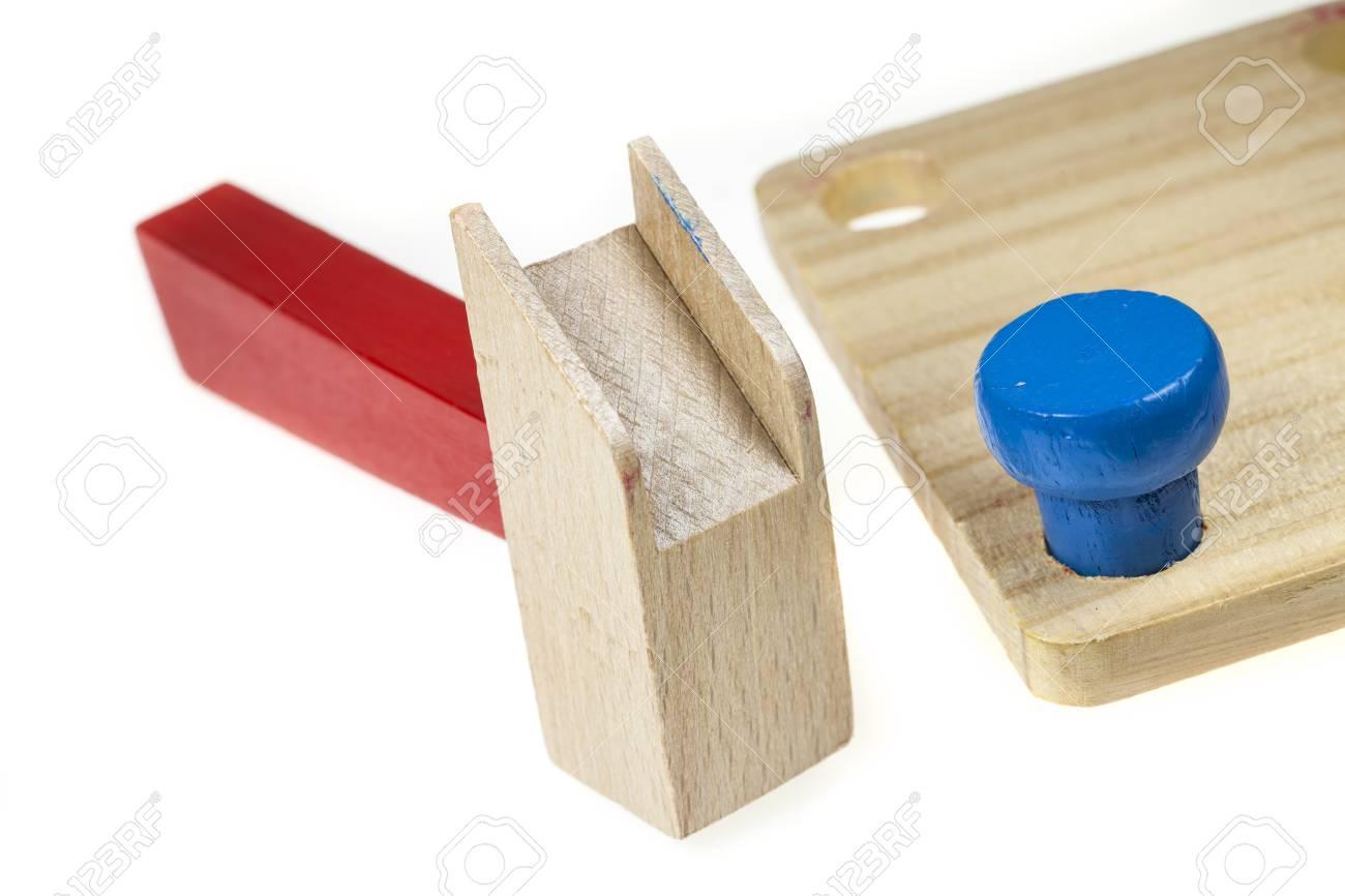 holzwerkzeug, schraube und mutter spielzeug bunte für kinder
