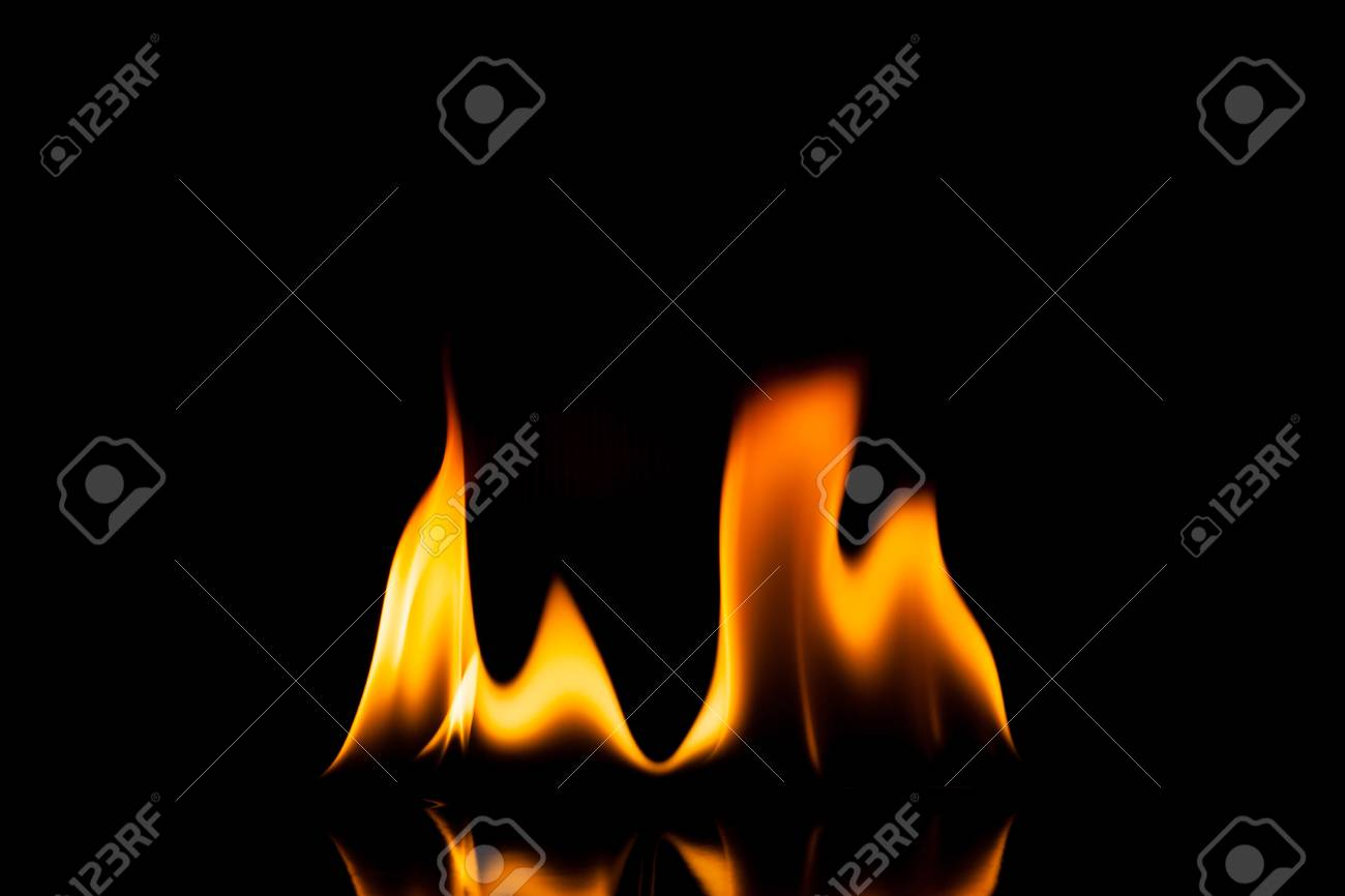 Flame fire movement on a black background