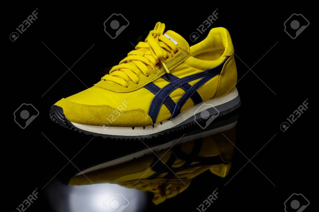 Shoes Made By Onitsuka.. Stock Photo