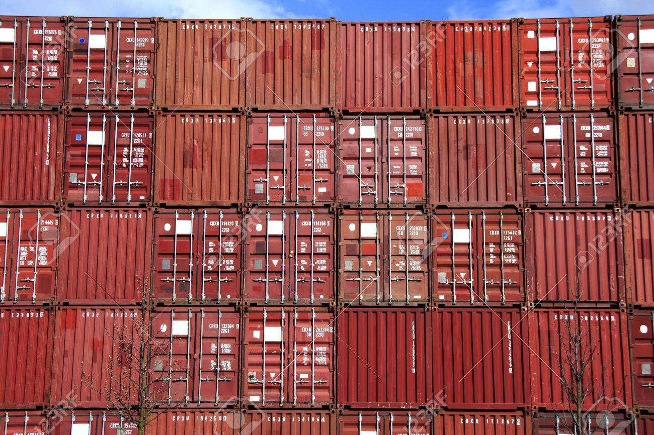 stack of container - all company names, copyrights and trademarks are disposed Stock Photo - 800180