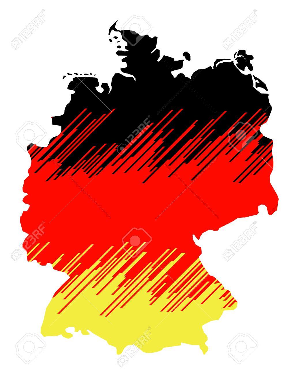 Zusammenfassung Karte Von Deutschland Isoliert Auf Weißem