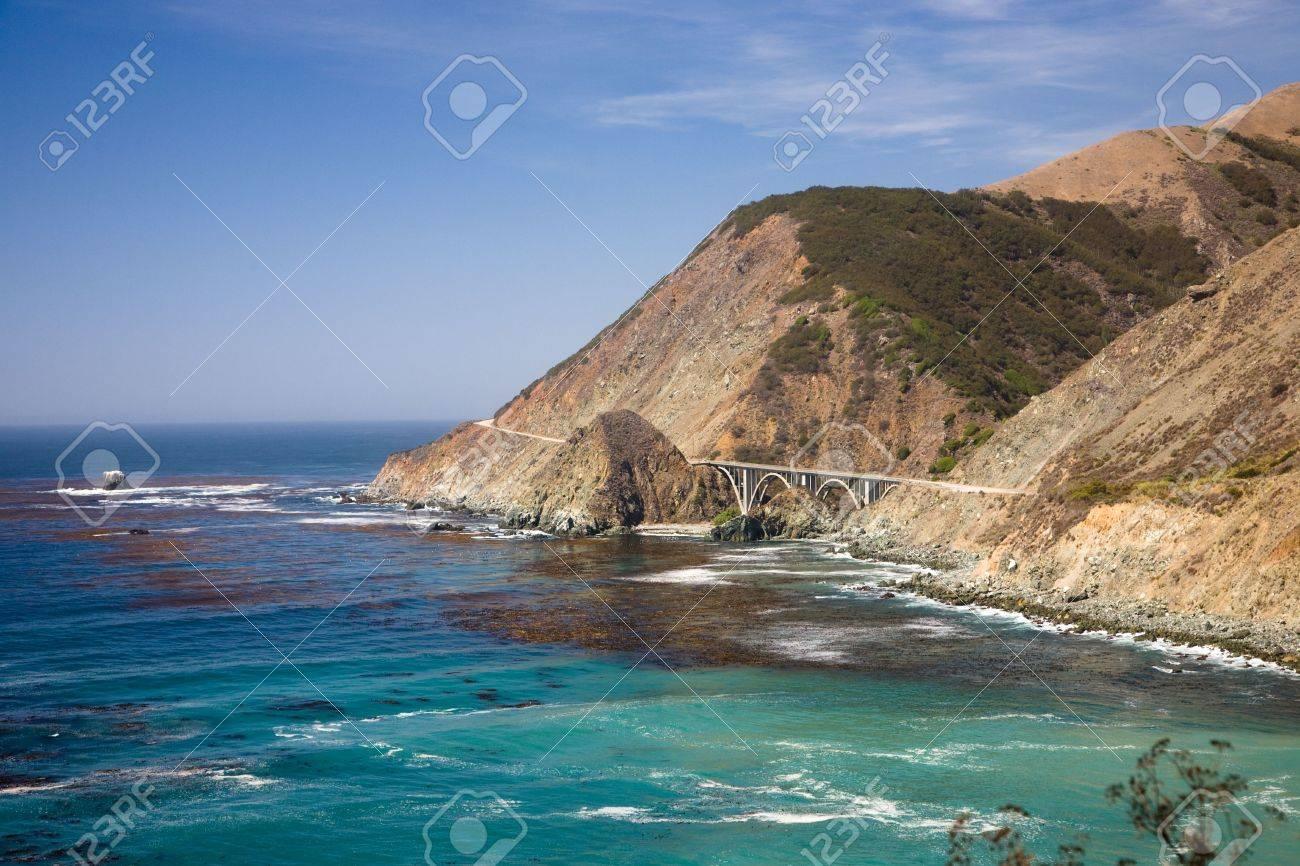 Bixby Creek Arch Bridge, near Big Sur in California, USA Stock Photo - 5845686