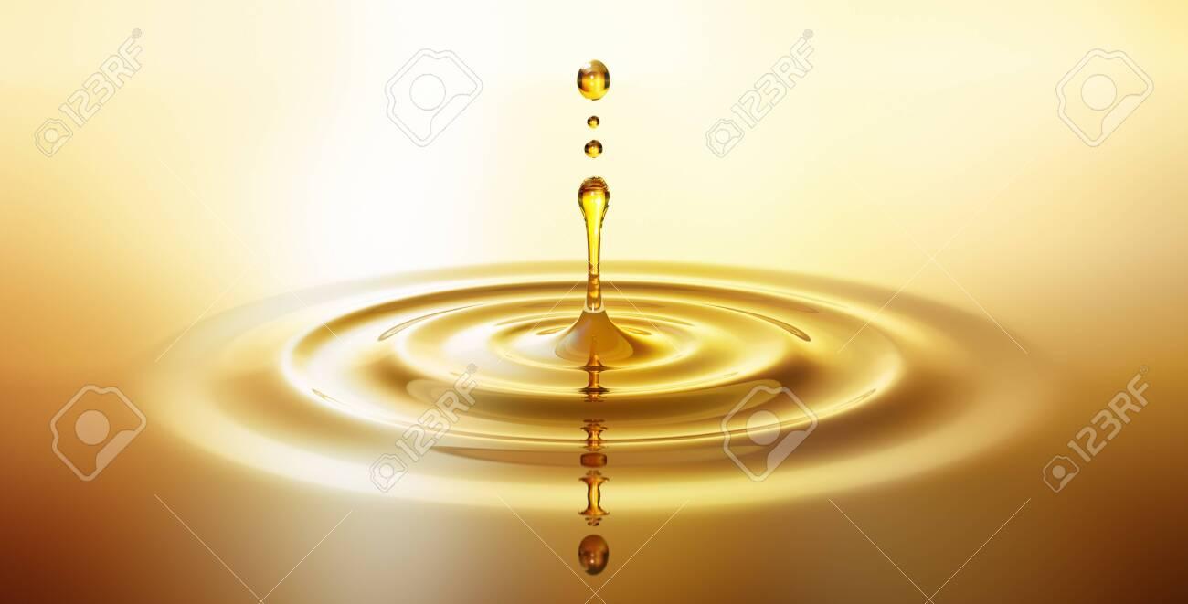Drop of golden oil - 125507940