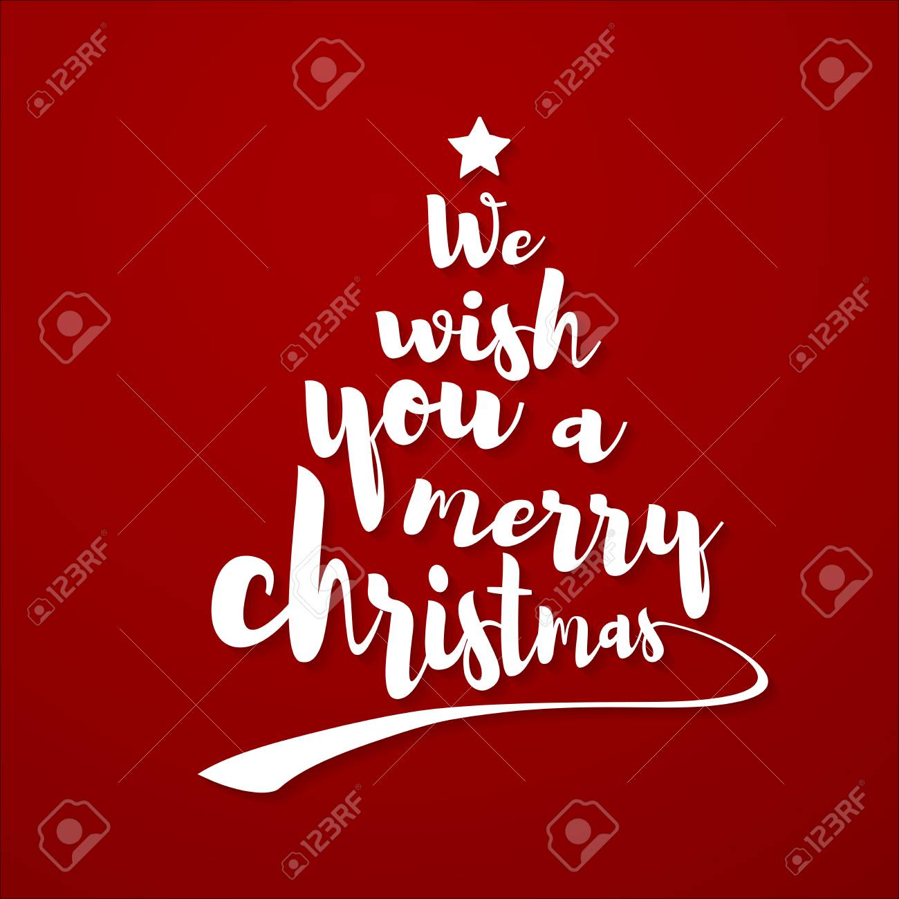 We wish you a merry christmas quote. Calligraphic text makes..
