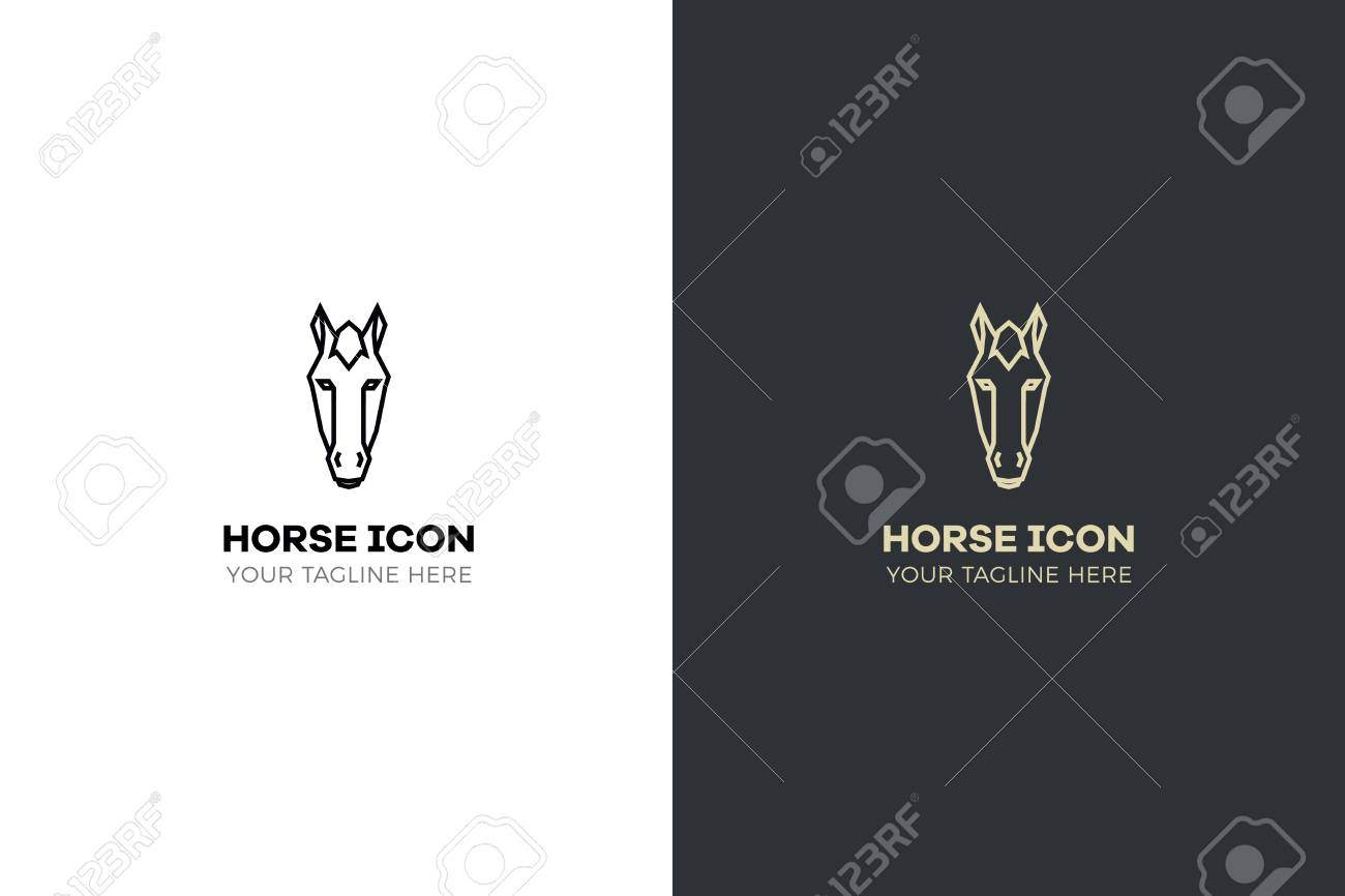 Stylized Geometric Horse Head Illustration Vector Icon Tribal Royalty Free Cliparts Vectors And Stock Illustration Image 97024654