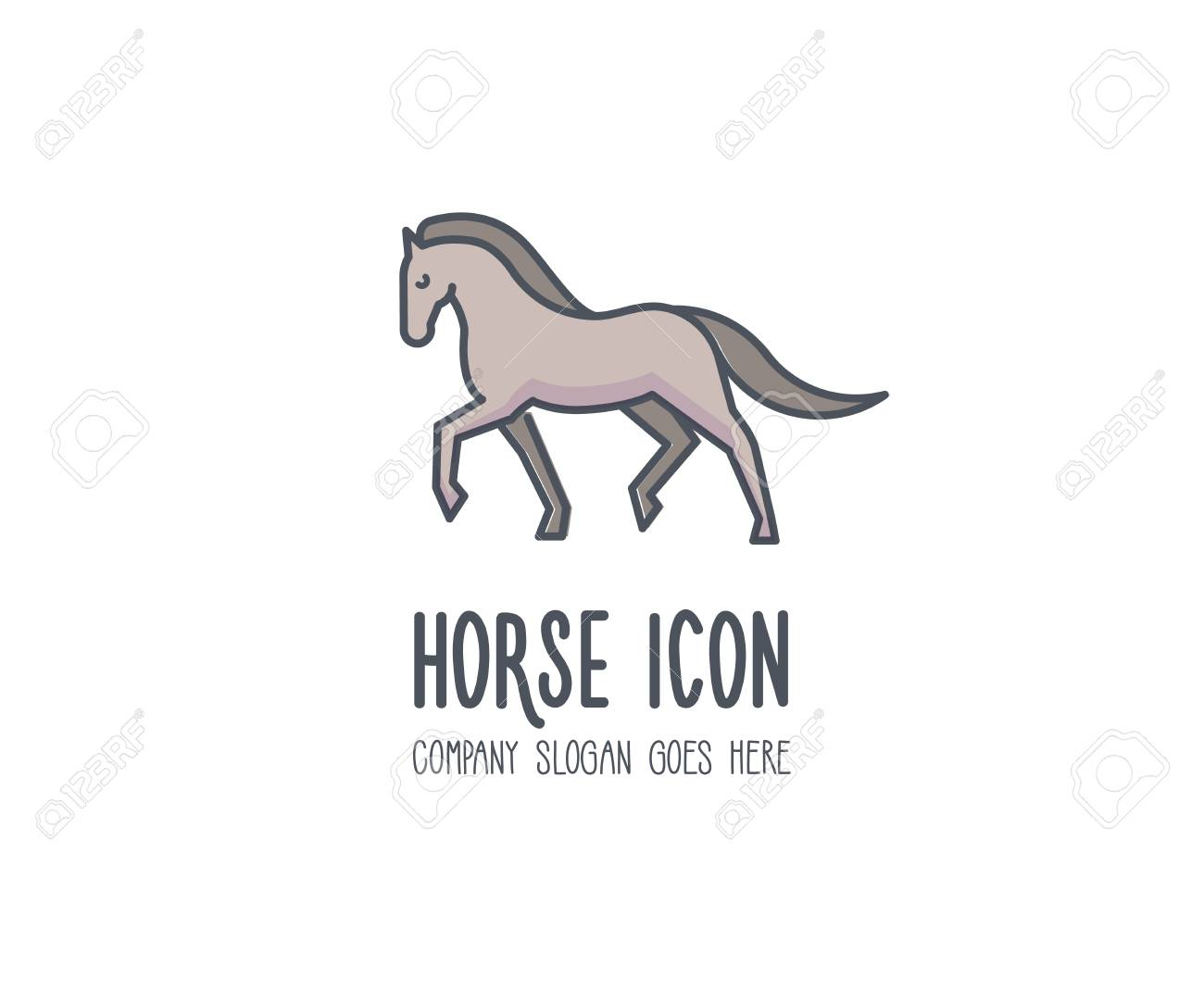 Cute Elegant And Proud Horse Marching Gloriously Vector Animal Royalty Free Cliparts Vectors And Stock Illustration Image 105001909