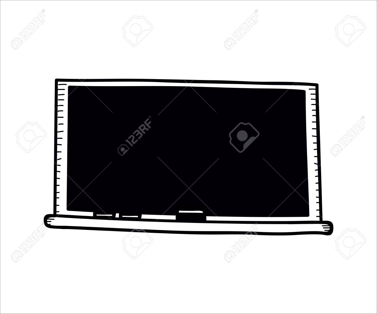 school objects empty blackboard with chalk and eraser vector royalty free cliparts vectors and stock illustration image 109242272 school objects empty blackboard with chalk and eraser vector