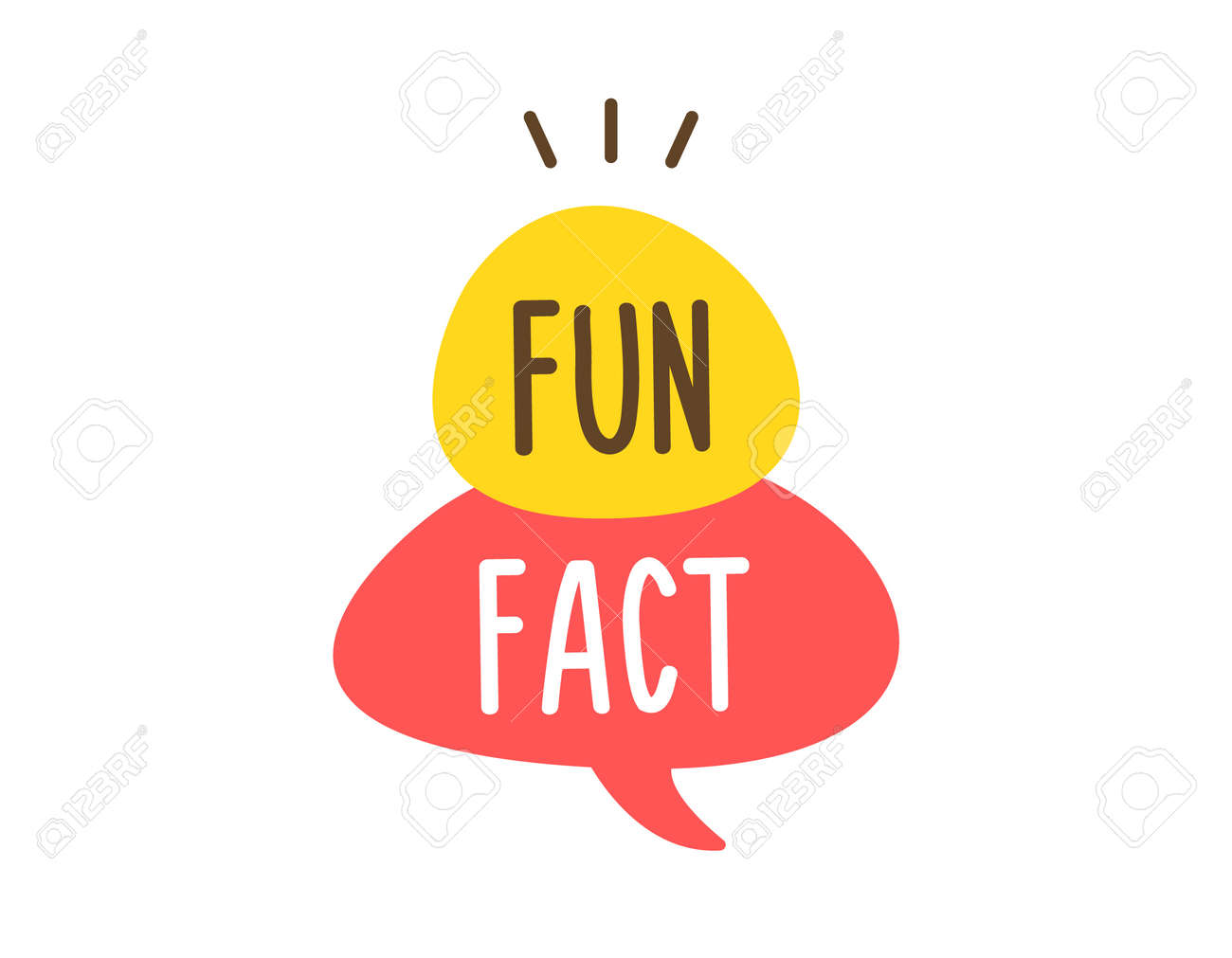 Vector fun and cheerful doodle speech bubble with the words Fun Fact. Vector concept illustration - 158456660