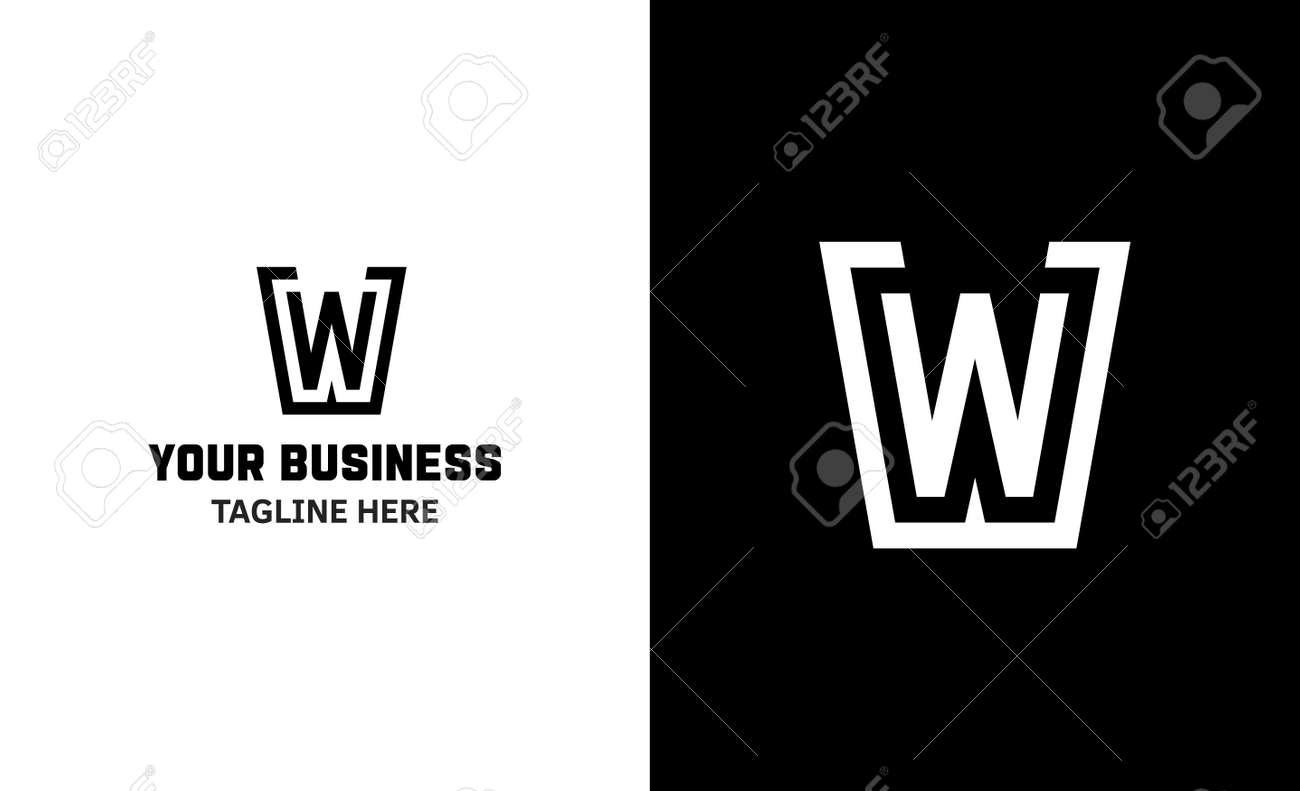 Letter W minimal vector logo. Icon mark design template - 159057756
