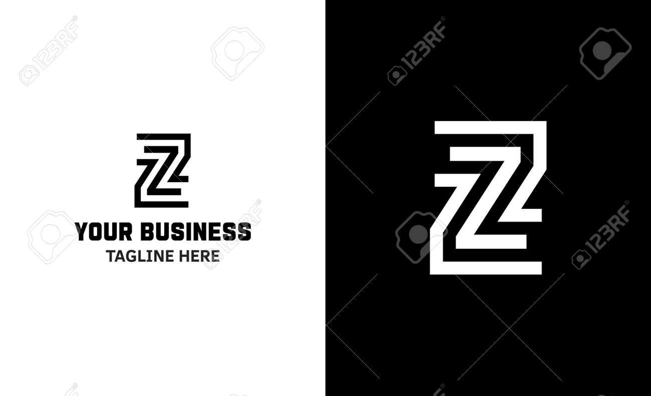 Letter Z minimal vector logo. Icon mark design template - 159057760