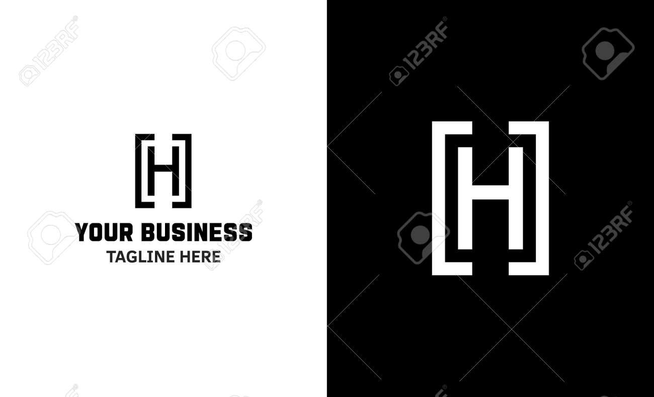 Letter H minimal vector logo. Icon mark design template - 159057764