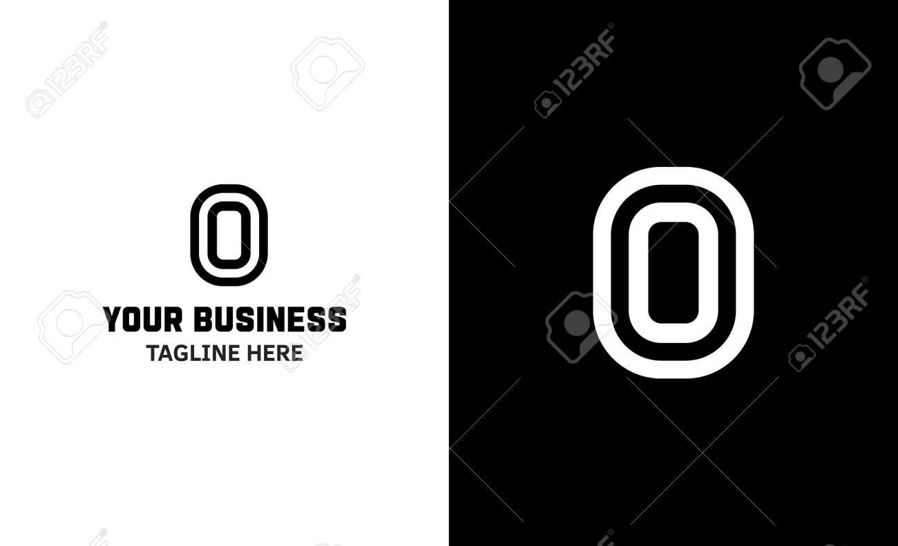 Letter O minimal vector logo. Icon mark design template - 159057780