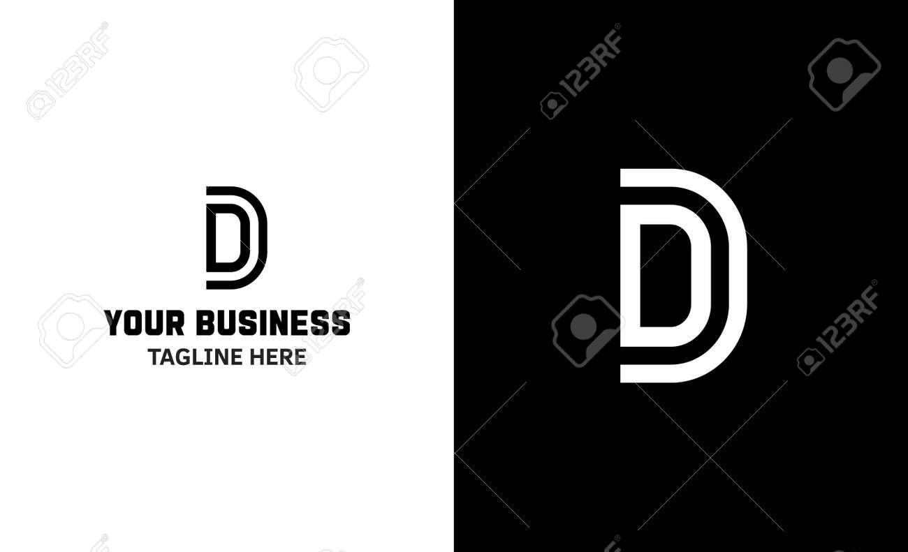 Letter D minimal vector logo. Icon mark design template - 159057825