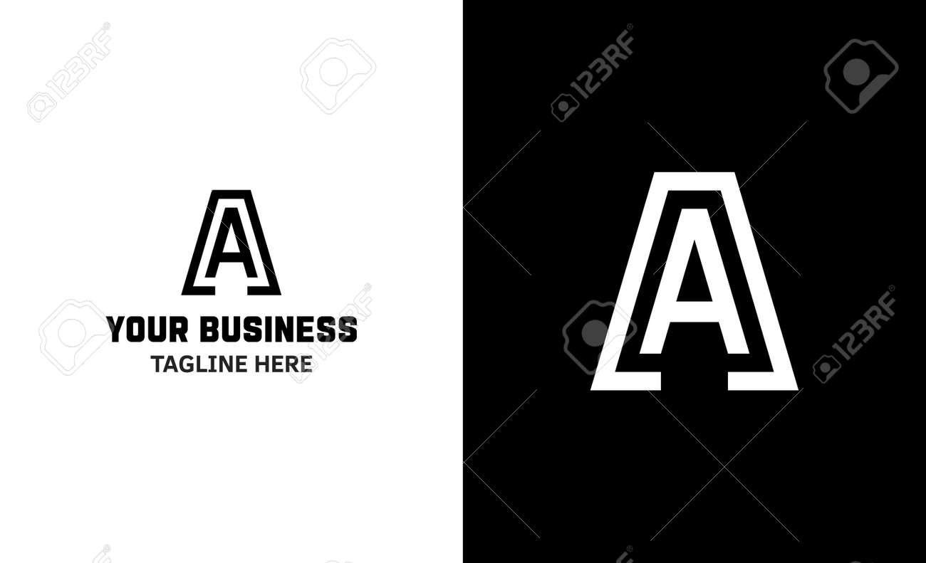 Letter A minimal vector logo. Icon mark design template - 159057828