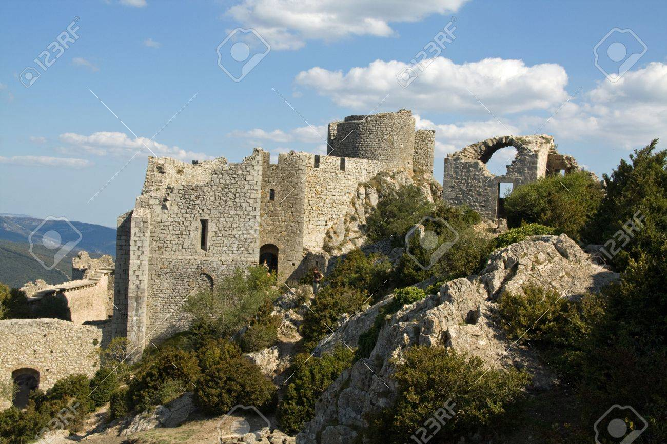 The Former Patio Of Chateau Peyrepertuse, The Biggest Of The ...