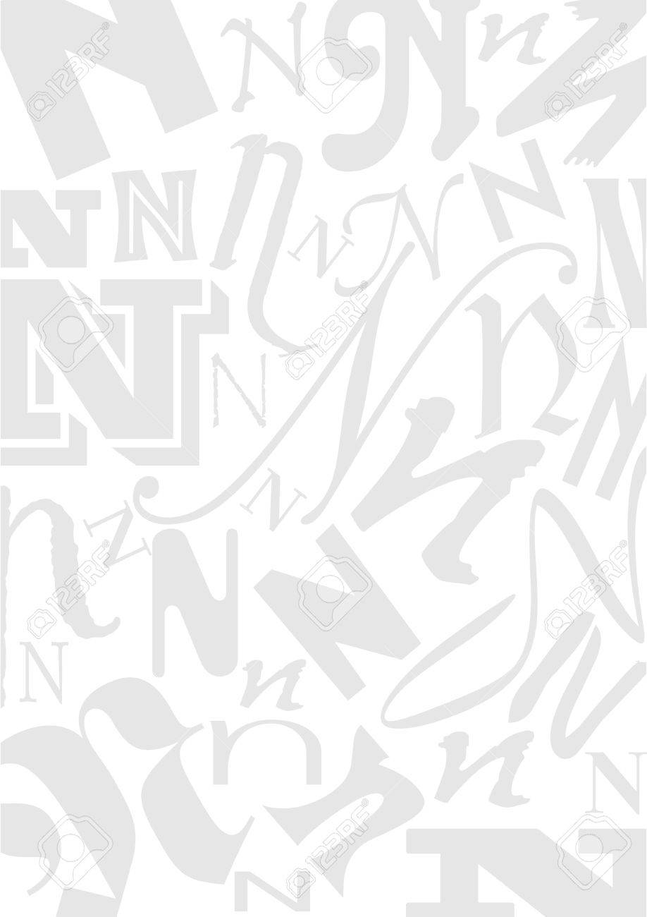 Background With The Letter N In Different Typefaces Useful For