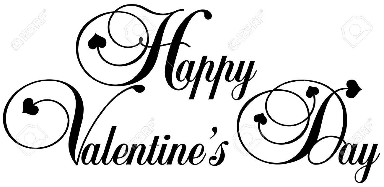 Decorative Letters Happy Valentines Day In Decorative Letters Stock Photo Picture