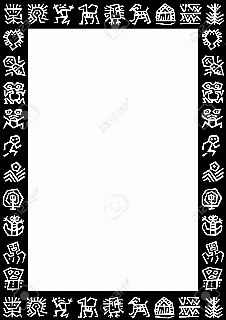 stock photo white background with a black border with white signs