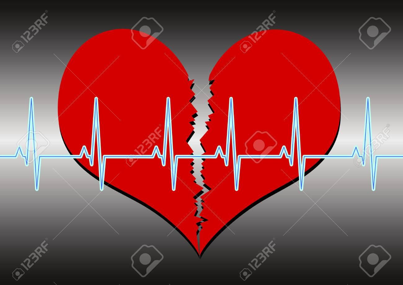 broken heart Stock Vector - 7879555