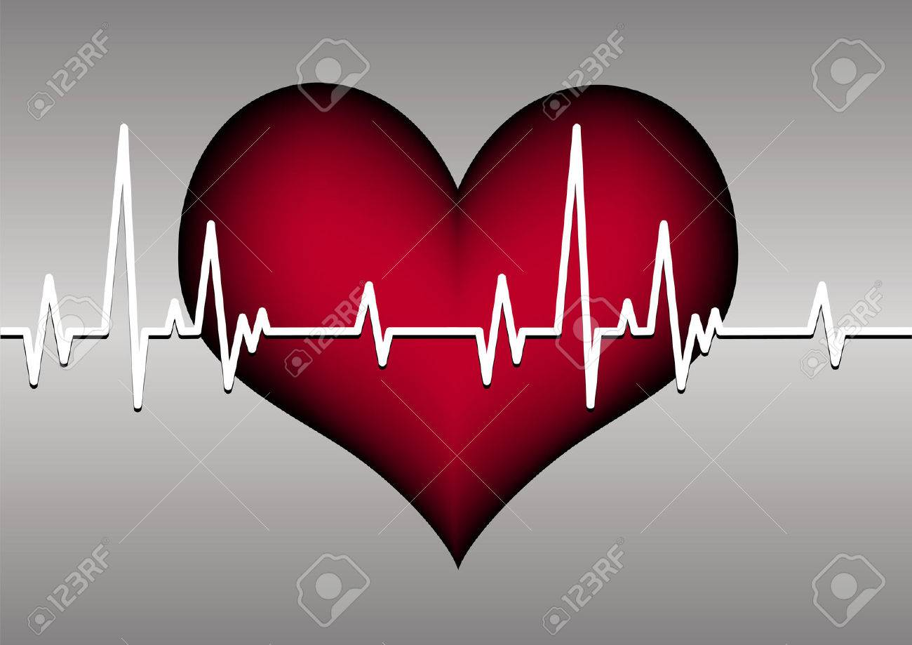 heart and cardiogram Stock Vector - 7879561