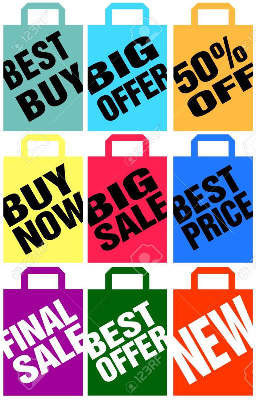 advertising shopping bags Stock Vector - 10942859