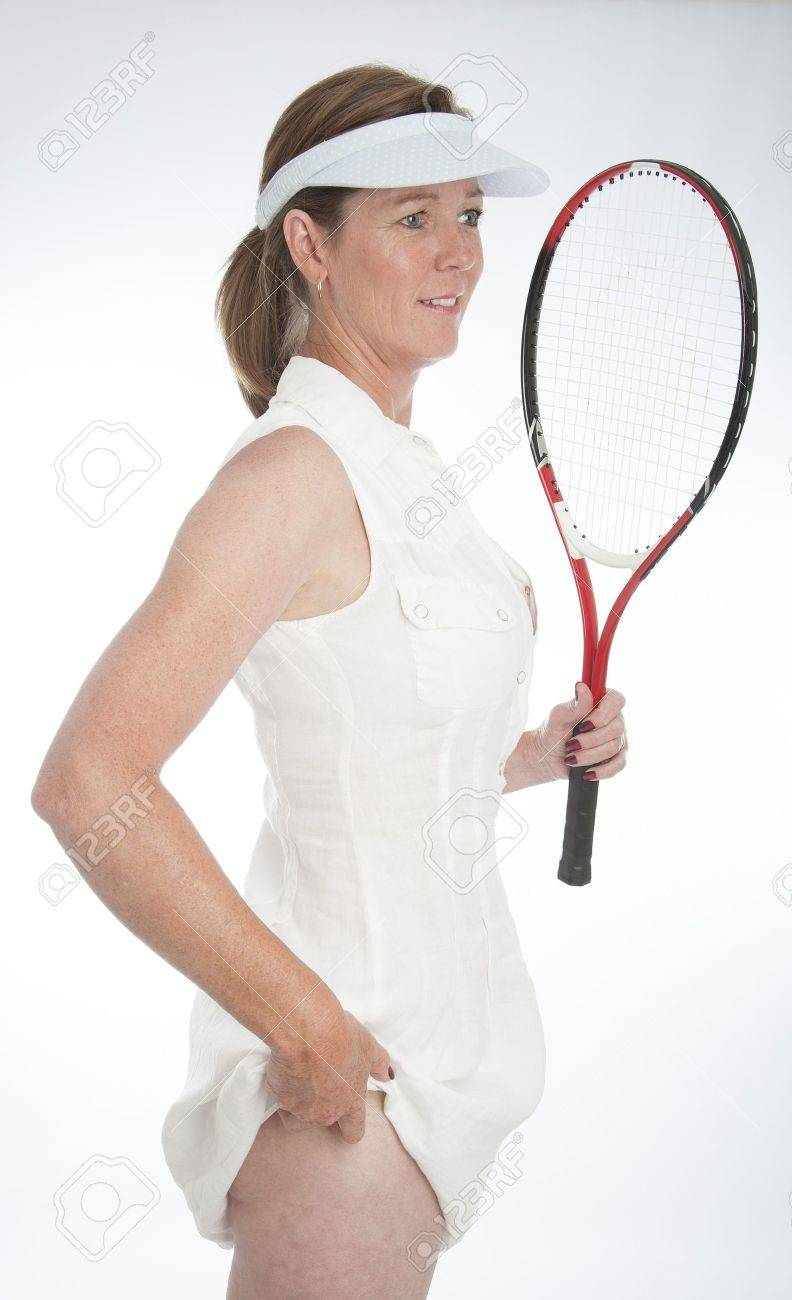 Female tennis player tucking the ball into her panties Stock Photo -  21000200 2dde3816017a