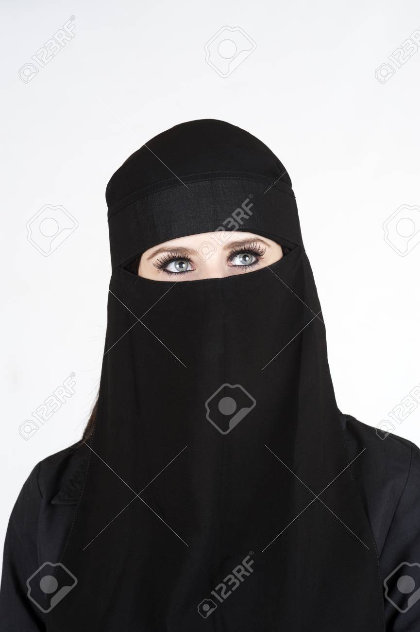 Young woman wearing a Niqub Stock Photo - 23024198