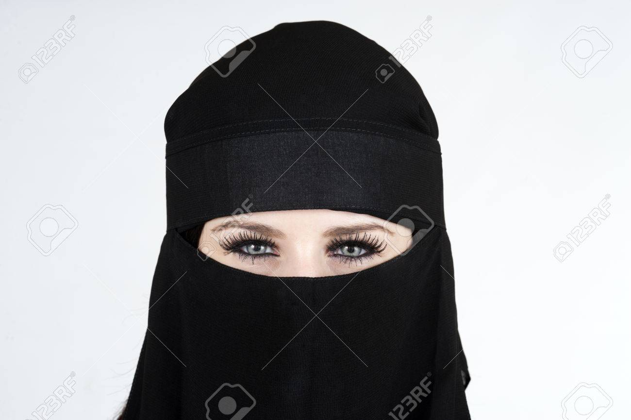 Young woman wearing a Niqub Stock Photo - 23024204