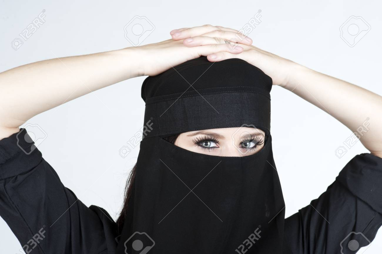 Young woman wearing a Niqub Stock Photo - 23024250