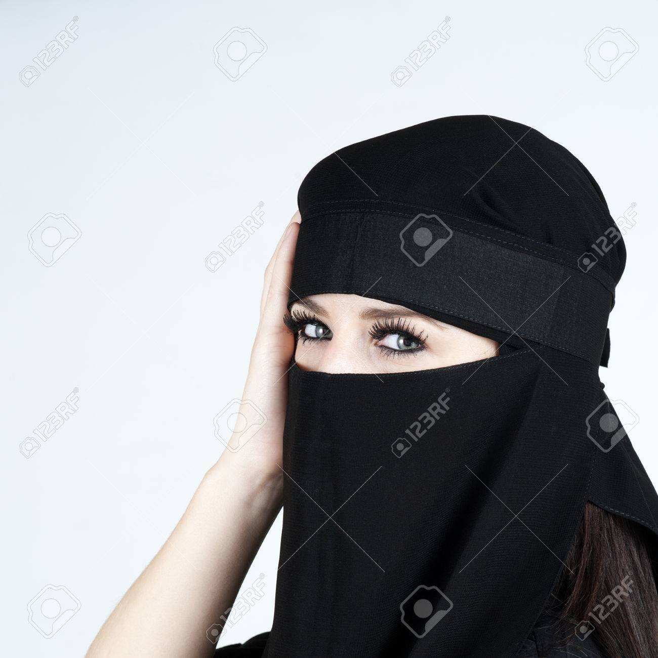 Young woman wearing a Niqub Stock Photo - 23024324