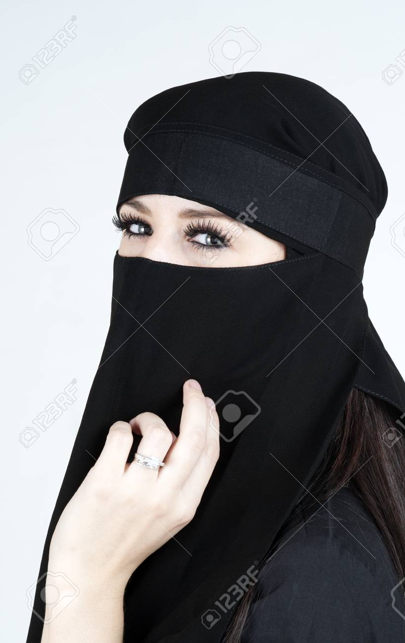 Young woman wearing a Niqub Stock Photo - 23024325