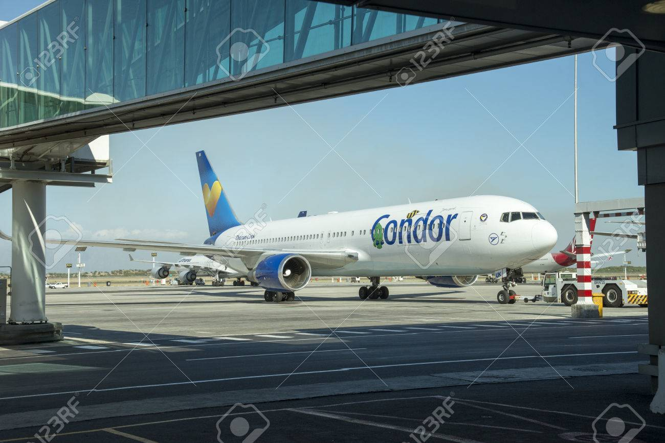 Thomas cook group boeing 767 of condor flugdienst company at stock thomas cook group boeing 767 of condor flugdienst company at cape town airport wearing the symbol buycottarizona Image collections
