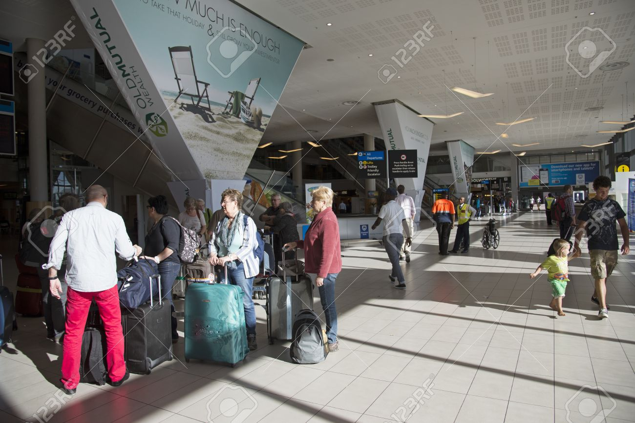 Meet And Greet Area At Cape Town Airport South Africa Stock Photo