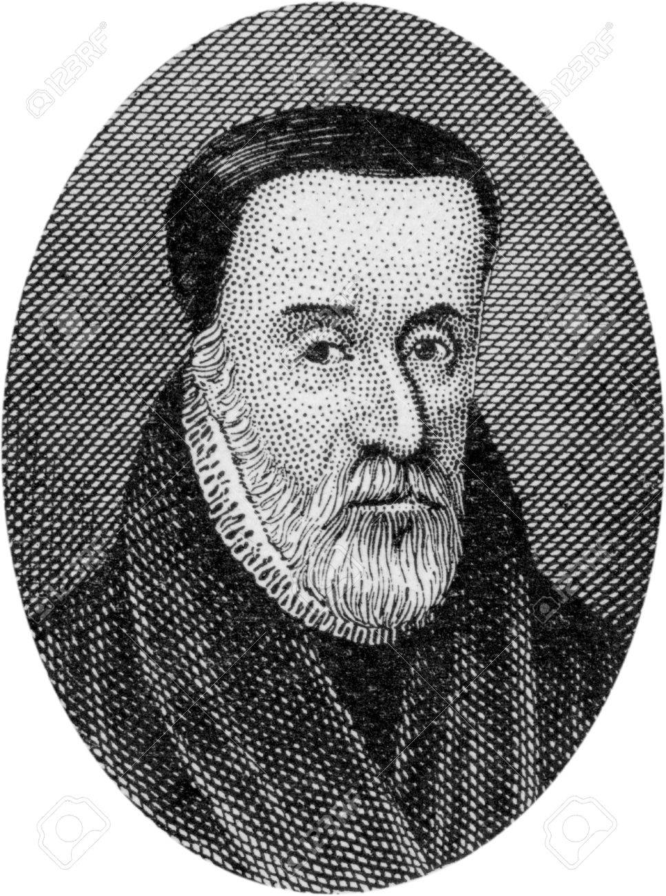Engraving of William Tyndale, 1484 - 1536; English Bible Translator and  Reformer, Martyred