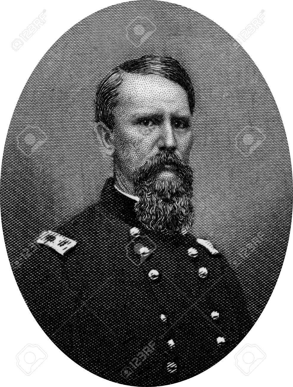 Engraving of Union Major General  Frank P Blair Jnr. Original engraving by John Buttre, circa 1866. Stock Photo - 17262625