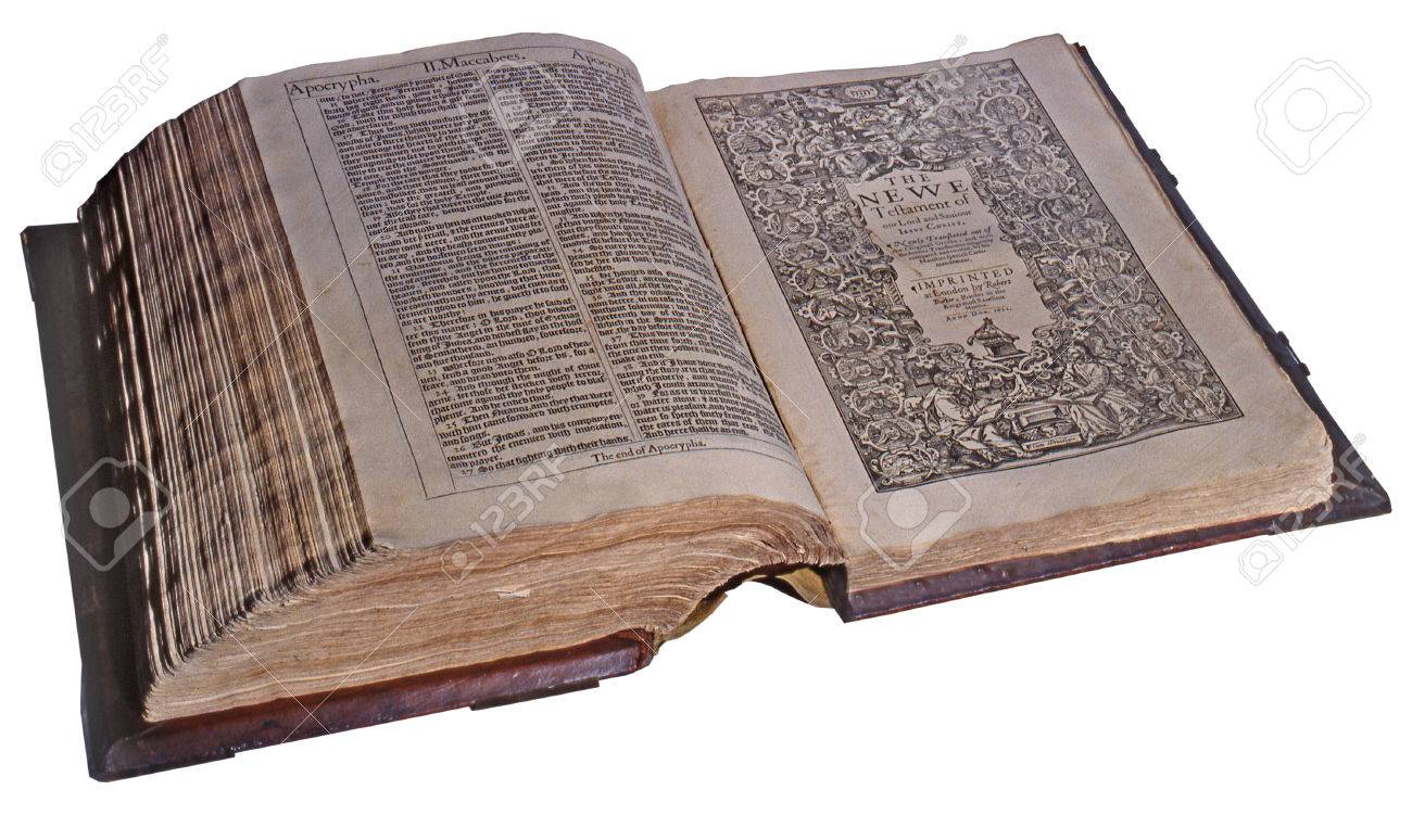 First Edition of the King James Bible, 1611, open at the New