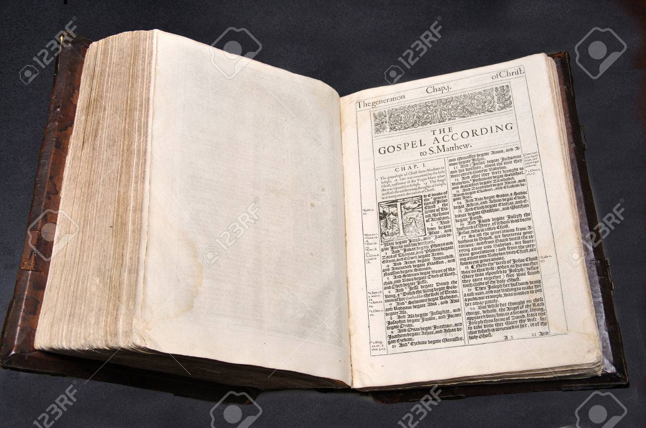 1611 edition of the king james version of the holy bible open